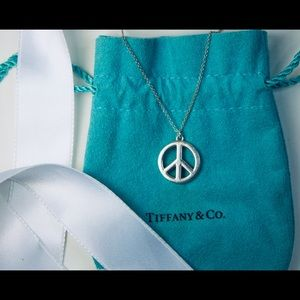 Tiffany & Co. Peace Sign Necklace